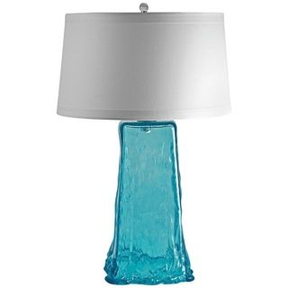Aqua Wave Recycled Glass Table Lamp   #N2167