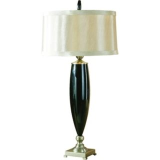 Uttermost Black Glass Table Lamp   #F1473