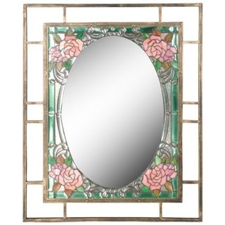 "Dale Tiffany Jules 36"" High Art Glass Wall Mirror   #X2687"