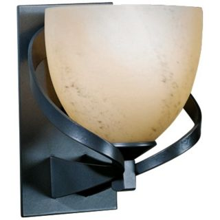 "Hubbardton Forge Ribbon Stone Glass 8"" High Wall Sconce   #R6182"
