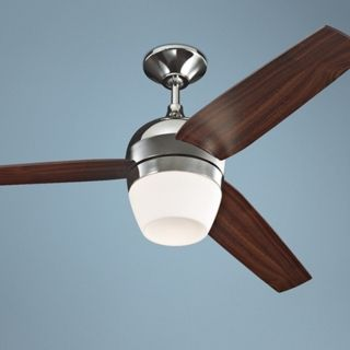 "52"" Monte Carlo Merlot Nickel Ceiling Fan with Light Kit   #U5966"
