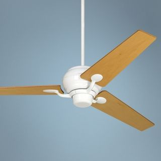 "60"" Spyder Tapered Maple Blades White Ceiling Fan   #R2182 R2490"