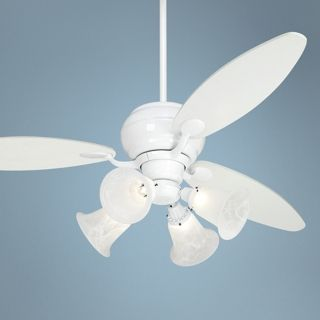 "60"" Casa Optima White Ceiling Fan with 4 Lights   #R2182 R2443 M3630 87743"