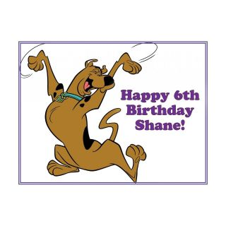 Scooby Doo Jumping Happy Birthday Edible Image Icing Cake Cupcake