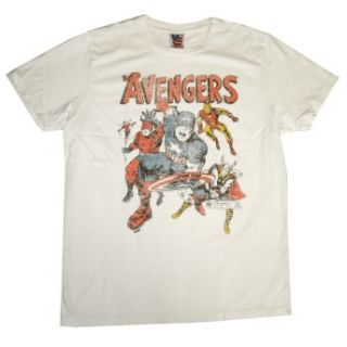 Avengers Team Marvel Comics Vintage Style Junk Food T Shirt Tee