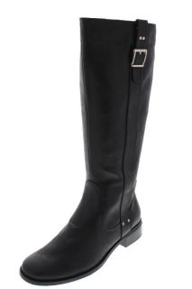 Karen Scott New Black Heel Belted Knee High Riding Boots Shoes 8 5