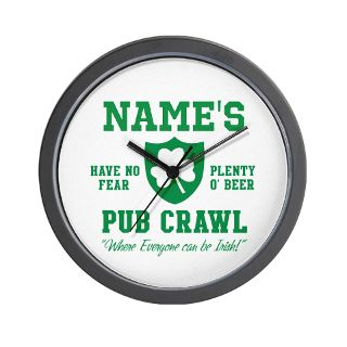IRISH PUB PERSONALIZED Wall Clock by scott64