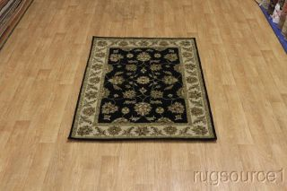 BLACK TRADITIONAL NOURISON BRAND 5X7 KASHAN PERSIAN ORIENTAL AREA RUG