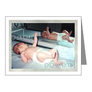Baby Gifts  Baby Note Cards  baby power    Note Cards (Pk of 10)