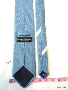 Salvatore Ferragamo Horse Skyblue White Designer Men Formal Necktie