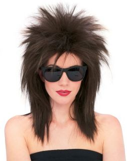 Pop Rock Star Wig Black Blue Red Punk Spike Spiky Costume Wig