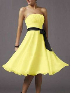 Sexy Strapless Evening Prom Party Dresses Bridesmaid Dress +Free Shawl