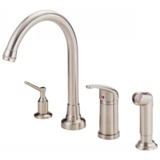 Danze D409012SS Single Handle Kitchen Faucet with Side Spray Stainless