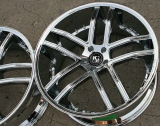 Koko Kuture Intake 22 Chrome Rims Wheels CL500 CL600 22 x 9 0 10 5 5H