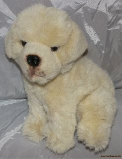 Realistic Plush 10 Seated Golden YELLOW LABRADOR Retriever Puppy Dog