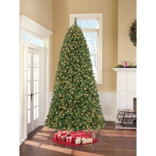 Pre Lit 9 Lakeshore Christmas Tree Pine Cones 1200 Clear Lights 2832