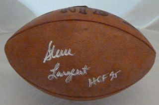 Steve Largent Autographed Signed Official Rozelle NFL Football Seattle