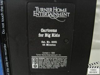 Cartoons for Big Kids VHS Leonard Maltin 053939603132