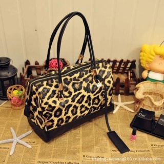 Leopard Print Satchel Shoulder Bag Bag 0017