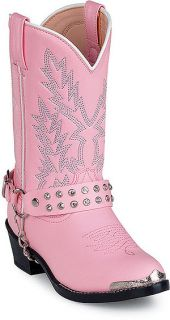 Durango BT568 Boots Cowboy Shoe Pink Youth Kid Girls Sz