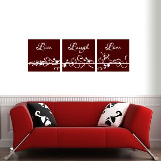 Live Laugh Love Scroll Vinyl Wall Quote Decal