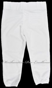 New TEAMWORK Little League YOUTH Baseball uniform pants WHITE + many