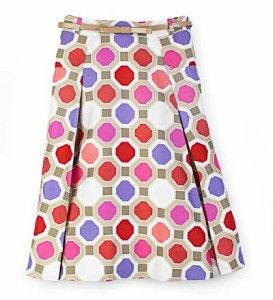 Kate Spade Louella Center Stage Multi Color Silk Skirt Sz 6 $368