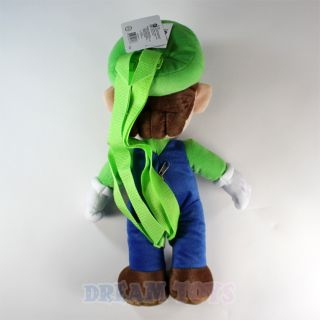 Nintendo Super Mario Bros Luigi Plush Backpack 18 Adjustable
