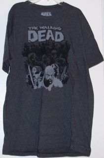 The Walking Dead Herd Charcoal Premium Tee Shirt Adult Sizes Jinx A E