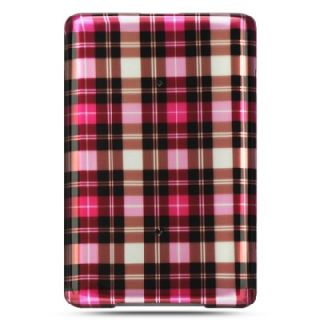 Luxmo Barnes Noble BN Nook Classic 1g 1st Edition Hot Pink Plaid Cover