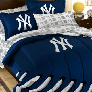 5pc NEW YORK YANKEES Baseball TWIN BED IN BAG   MLB Laces Comforter