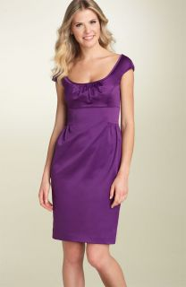 Maggy London Stretch Satin Sheath Cocktail Dress 10
