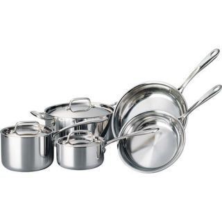 Tramontina 8 Piece 18/10 Stainless Steel TriPly Clad Cookware Set