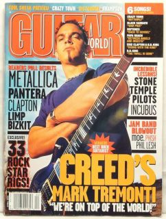 Guitar World Magazine Creed Mark Tremonti Metallica Pantera Eric