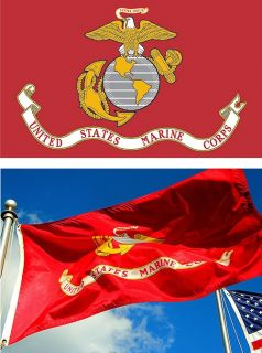 New 3x5 ft USMC Marine Corp Flag Marines Military