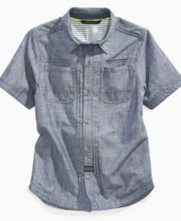 Nautica Kids Shirt, Boys Solid Woven Shirt   Kids Boys 8 20