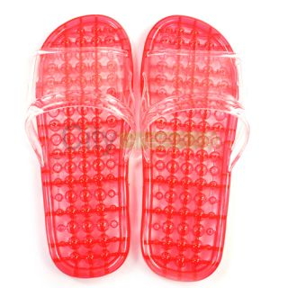 Ladys Massage Flip Flop Slippers Foot Massager Sandals Red Shoes M 38