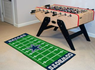 Cowboys NFL 29 x 72 Football Field Runner Area Rug Floor Mat