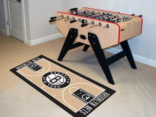Nets 24 x 44 Basketball Court Runner Area Rug Floor Mat by Fan Mats