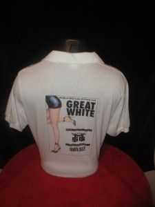 Great White B B Vtg 1990 Tour Shirt MSG Havana Black Promo Capitol