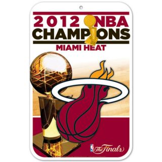 Miami Heat 2012 NBA Finals Champions 11 x 17 Reserved Parking Sign