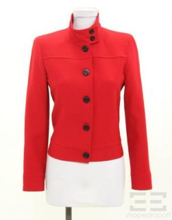 Kors Michael Kors Petites Red Wool Jacket Size 4P