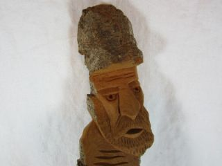 Folk Art Wood Hand Carved Faces Wall Hanging Signed Michalak