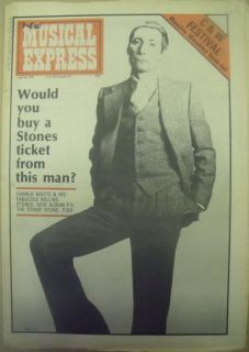 Rolling Stones Mick Ronson etc New Musical Express April 24th 1977 NME