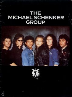 Michael Schenker Group 1983 Built to Destroy Tour Concert Program Book