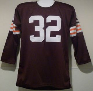 Jim Brown Autographed Signed Cleveland Browns Brown Poly Jersey w HOF