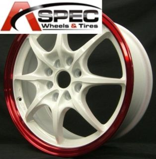 Rota Circuit 8 16x7 4x100 114 3 White Red Wheels Rims
