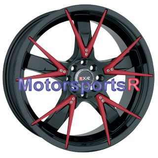 18 XXR 508 Rims Black Red 94 97 98 01 Acura Integra GSR