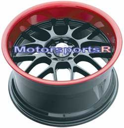 18 XXR 006 Black Red Lip Deep Dish Wheels Rims Staggered 04 11 Mazda