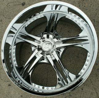 Structure SA70 24 Chrome Rims Wheels Chrysler 300 300C AWD 24 x 10 5H